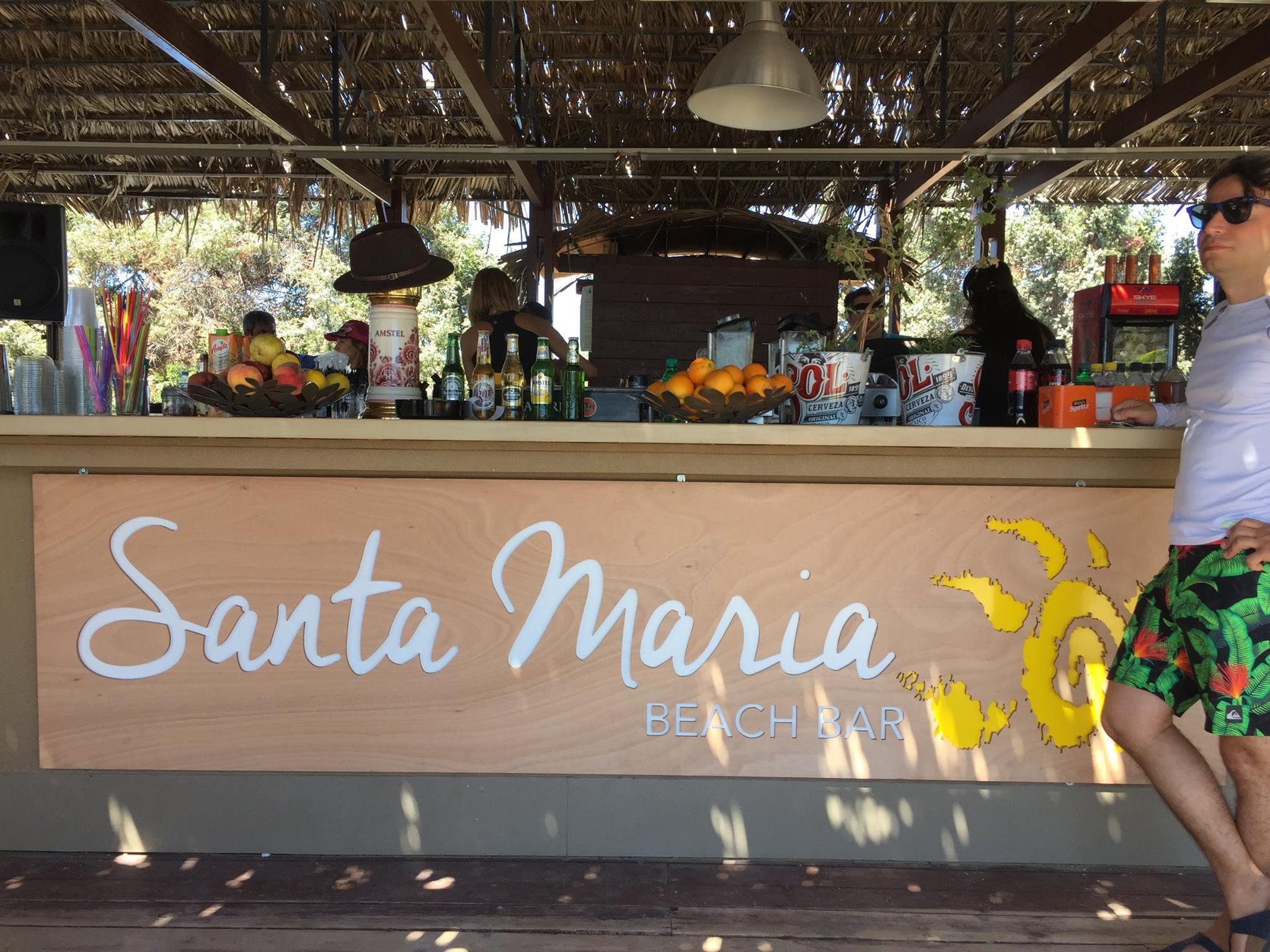 santa maria beach bar Paros